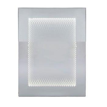 Oglindă perete cu iluminare LED Kare Design Infinity, 60x80cm