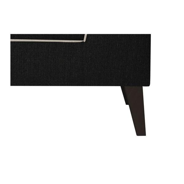 Černá pohovka s krémovými detaily Stella Cadente Maison Atalaia, pravý roh