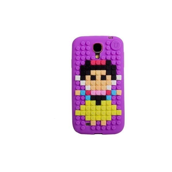 Pixelový obal na Samsung S4, fialová