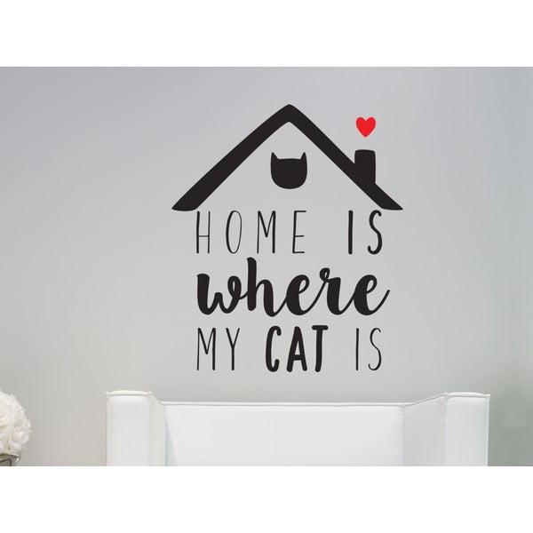 Dekorativní nástěnná samolepka Cat Is