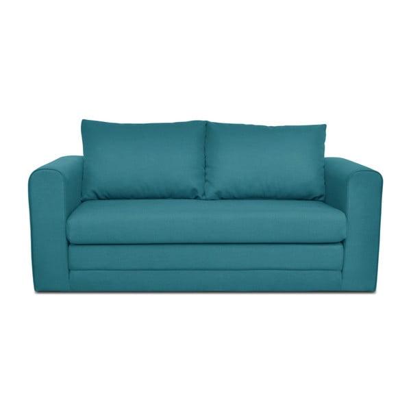 Turkusowa 3-osobowa sofa rozkładana Cosmopolitan design Honolulu