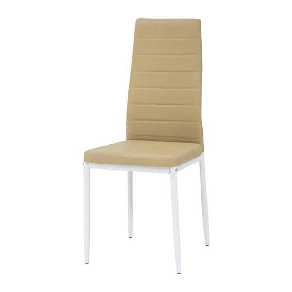 Jídelní židle Queen, bílá/medová