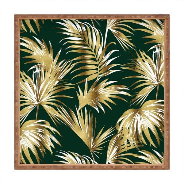 Tavă decorativă din lemn Palms, 40x40cm