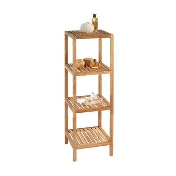 Suport din lemn de nuc pentru baie cu 3 rafturi Wenko Norway imagine