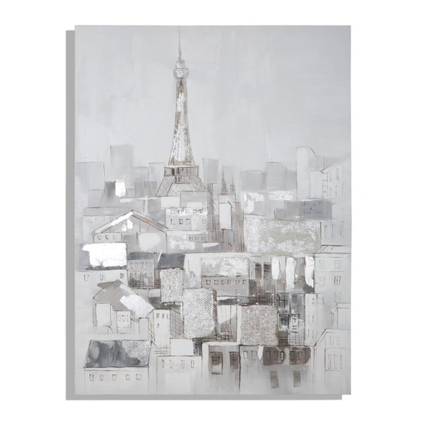 Tablou pictat manual Mauro Ferretti Dipinto Su Tela Paris Roofs, 90 x 120 cm