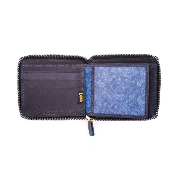 Kožená peněženka Lois Navy, 10,5x8,5 cm