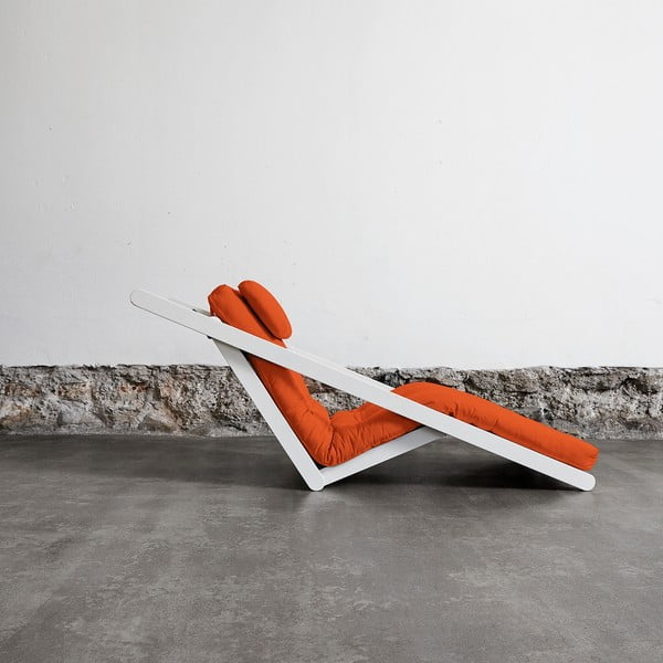 Fotoliu Karup Figo, White/Orange, 70 cm