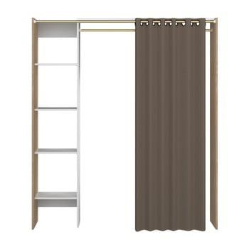 Sistem depozitare cu rafturi și draperie TemaHome Tom, maro imagine