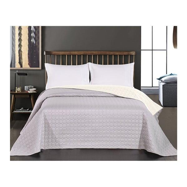Salise szürke-fehér kétoldalas mikroszálas ágytakaró, 170 x 210 cm - DecoKing