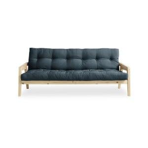 Variabilní rozkládací pohovka s futonem v petrolejově modré barvě Karup Grab Natural/Petrol Blue