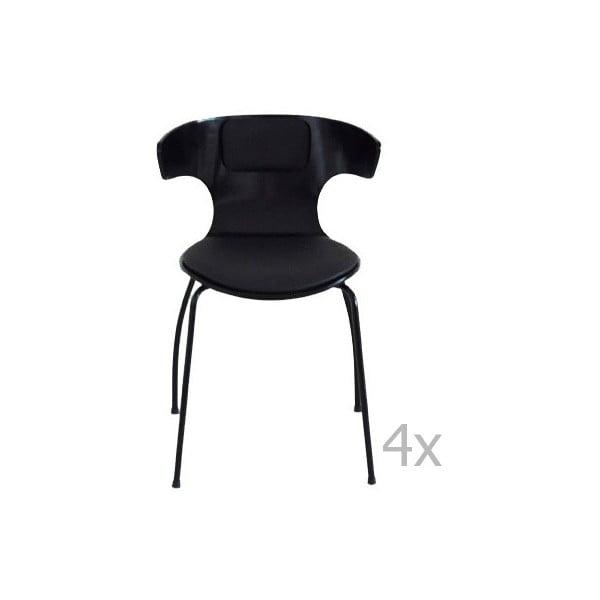 Sada 4 černých židlí RGE Cobra
