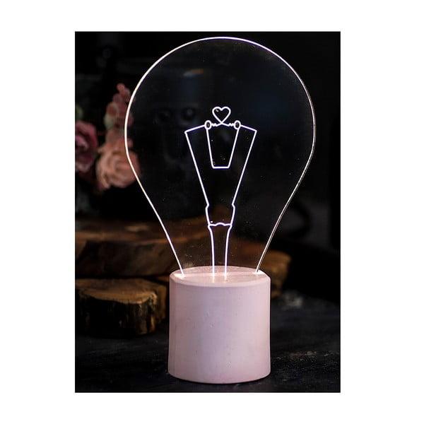 Náladové světlo Bulb, růžový podstavec