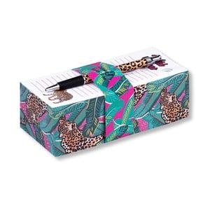 Set poznámkového bločku a pera Tri-Coastal Design Leopard