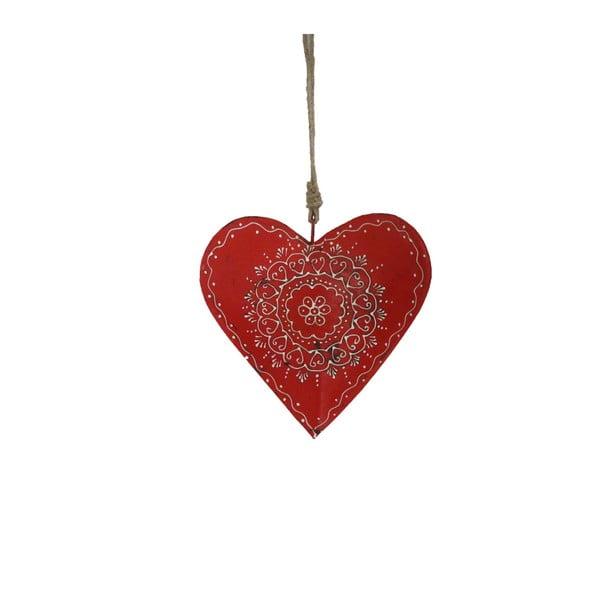 Závesná dekorácia v tvare srdca Antic Line Red Warm