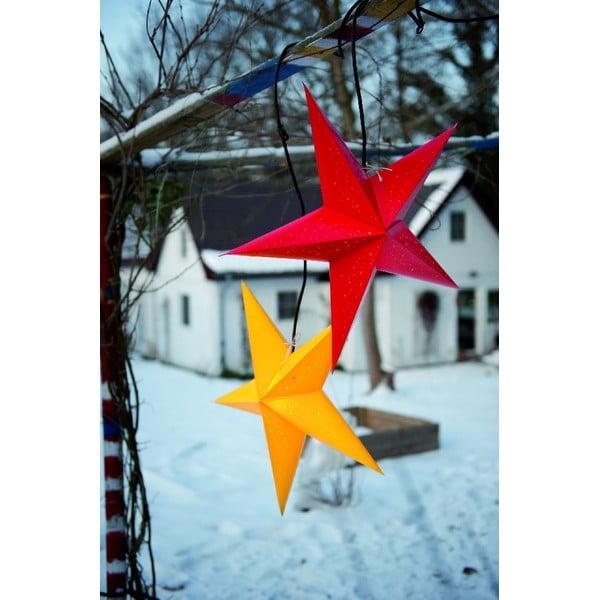 Dekorativní hvězda Starlet Red, 60 cm