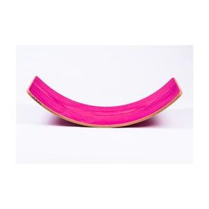 Velké růžové bukové houpací prkno Utukutu Woudie, délka117cm