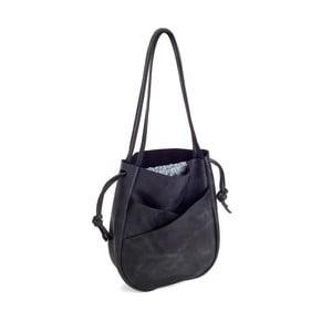 Černá kožená kabelka Woox Bella