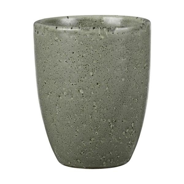 Cană din ceramică fără toartă Bitz Mensa, 300 ml, verde-gri