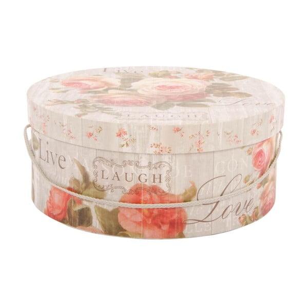 Sada 3 úložných krabic Love Roses