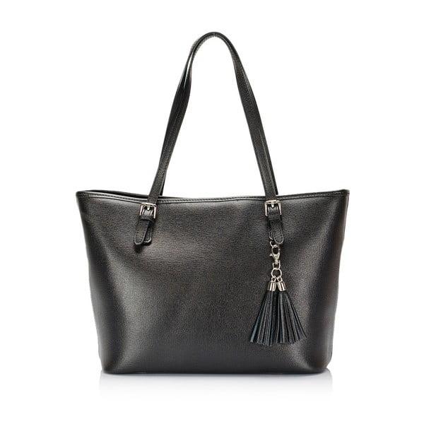 Černá kožená kabelka Lisa Minardi Brassolea