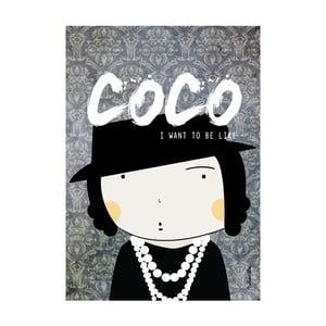 Plakát I want to be like Coco