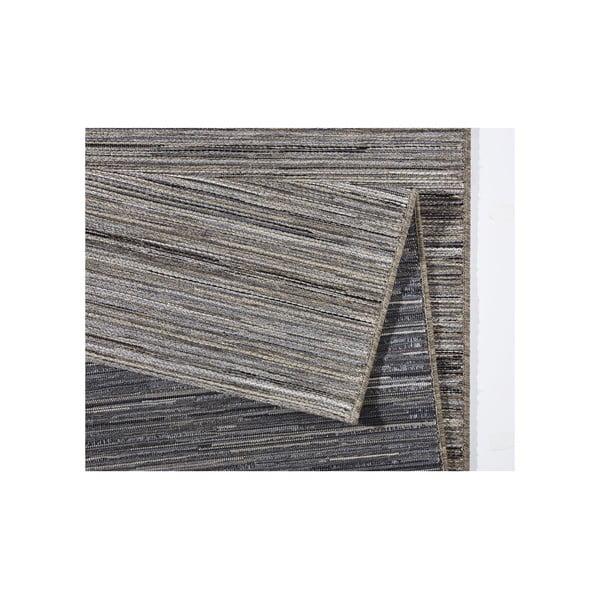 Koberec vhodný i na ven Lotus 80x240 cm, šedý melír