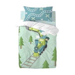 Dětské povlečení z čisté bavlny Happynois Train, 115x145cm