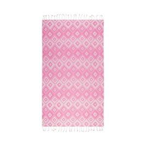 Růžová hammam osuška Begonville Joy, 95x180cm