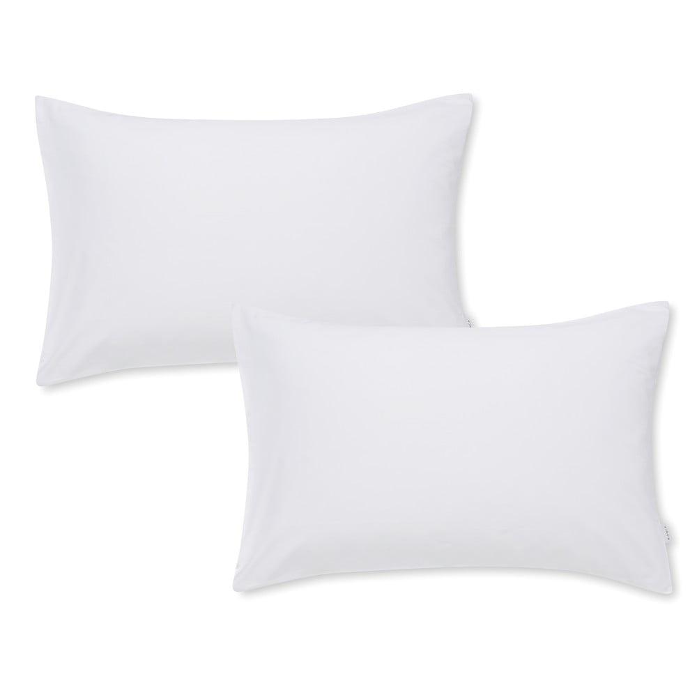 Sada 2 bílých povlaků na polštář z bavlněného saténu Bianca Standard, 50 x 75 cm