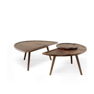 2dílný konferenční stolek z ořechového dřeva Wewood - Portuguese Joinery Colombo