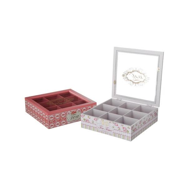 Sada 2 krabiček na čaj Rosa