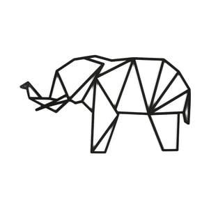 Černá nástěnná dekorace Dekorjinal Pouff Elephant, 65x38cm