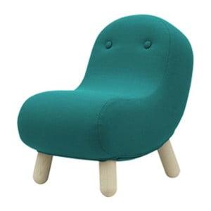 Tyrkysové křeslo Softline Bob Eco Cotton Turquoise