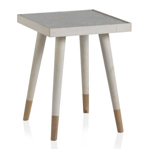 Bílý příruční stolek Geese Pattern