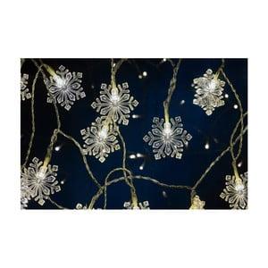 Světelný LED řetěz Villa Collection Snowflake, 20 světýlek