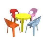 Dětský zahradní set 1 zeleného stolu a 4 židliček Resol Julieta