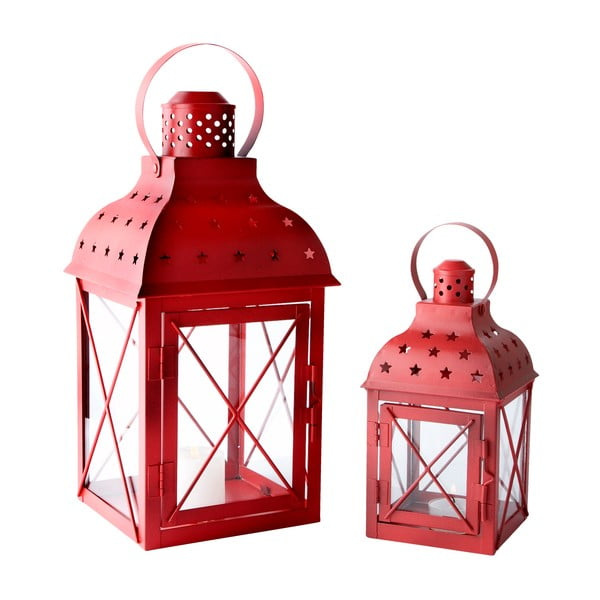 Sada 2 luceren Red Glass