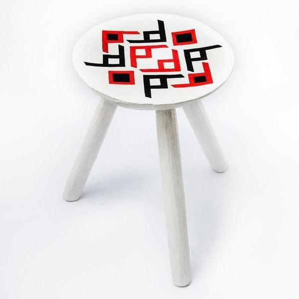 Ručně malovaná stolička Bran, 38 cm