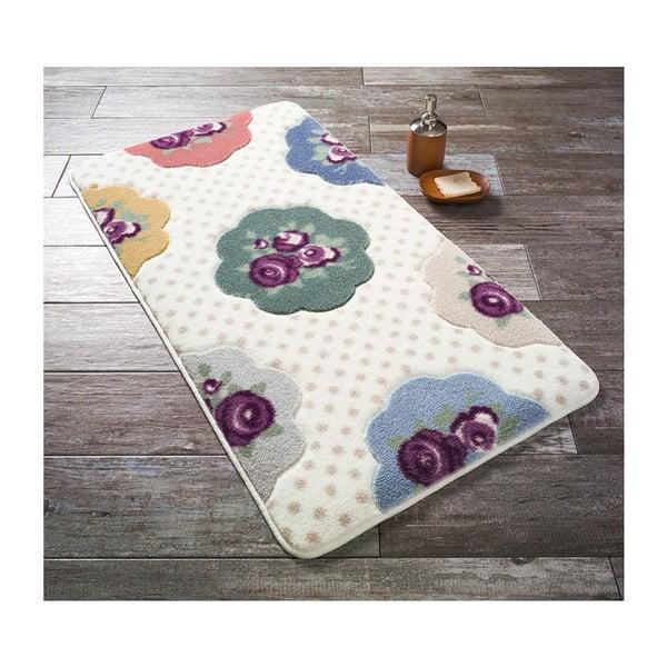 Fialová předložka do koupelny Confetti Bathmats Bundle, 50 x 57 cm