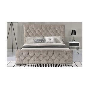 Béžová dvoulůžková postel VIDA Living Carina, 218 x 188 cm