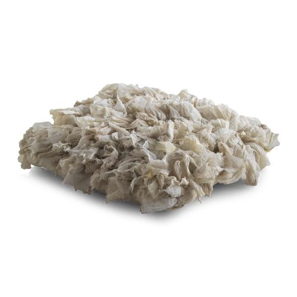 Kremowa poduszka z wypełnieniem Geese Fluffy, 45x45 cm