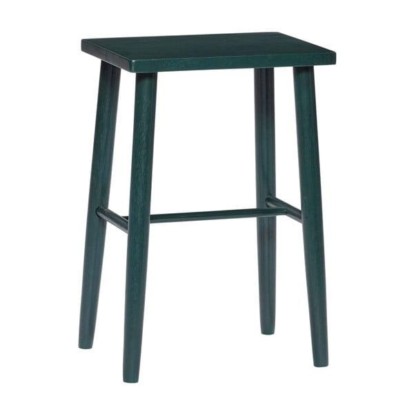 Tmavozelená barová stolička z dubového dreva Hübsch Oak Bar stool, výška 52 cm