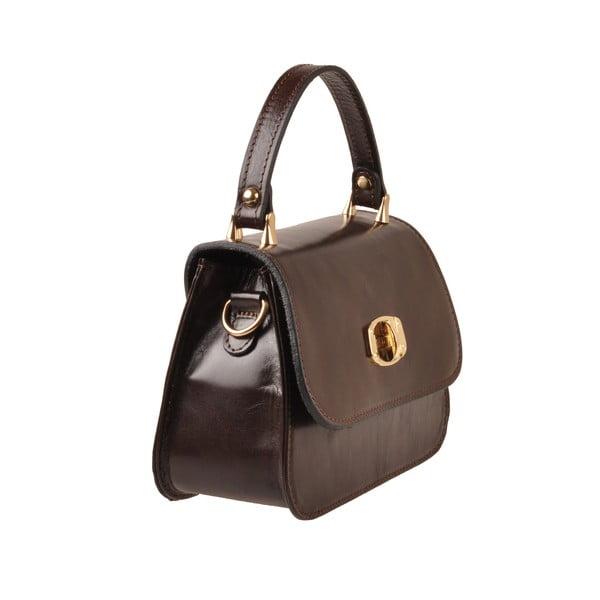 Kožená kabelka Flaux, tmavě hnědá