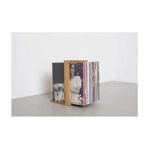 Stojan na gramofonové desky z dubového dřeva das kleine b Vinyl, 26 x 35 cm