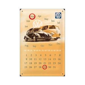Plechový kalendář Volkswagen, 20x30 cm