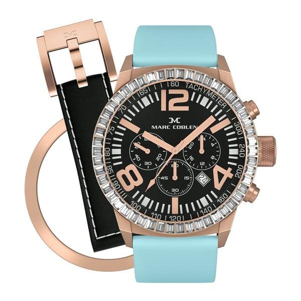 Dámské hodinky Marc Coblen s páskem a kroužkem navíc P110