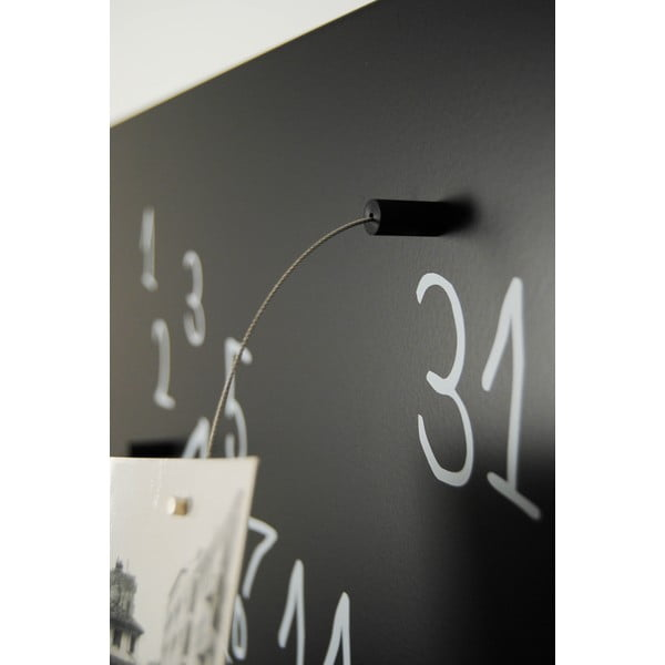 Magnetický kalendář dESIGNoBJECT.it Krok Black,50x50cm