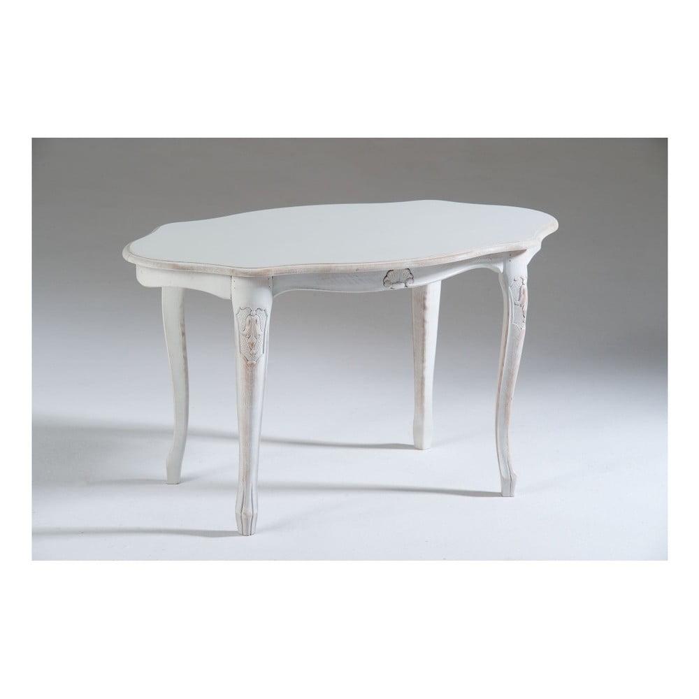 Bílý dřevěný odkládací stolek Castagnetti Marre