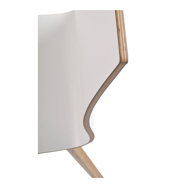 Bílá jídelní židle s hnědými nohami Rowico Grace