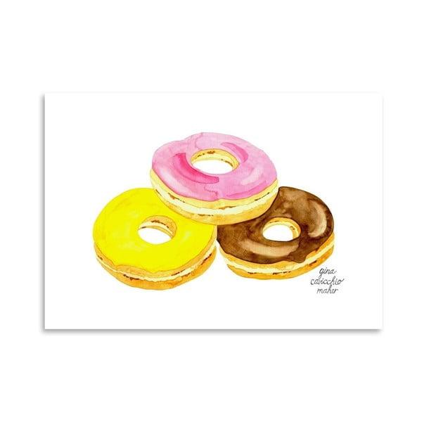 Autorský plakát Doughnuts, 30x42 cm